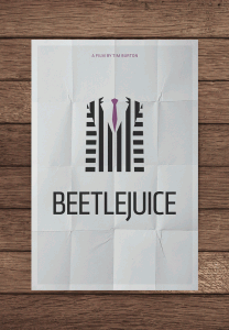 MockUpBeetlejuicePNG 208x300 Minimalist movie posters #1