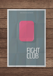 MockUpFightClubPNG 208x300 Minimalist movie posters #1