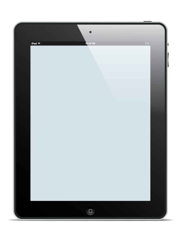 Free iPad vector template on Vectorgraphit